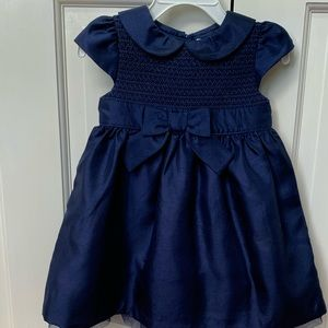 Gymboree Navy blue smocked  dress
